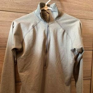 Grey Nike dri-fit 3/4 zip sweatshirt